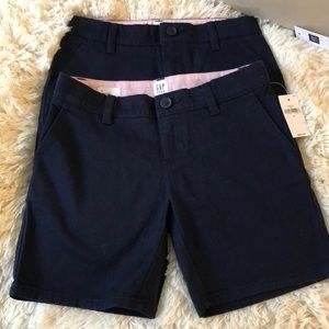 New Navy blue girl shorts X2 size 6